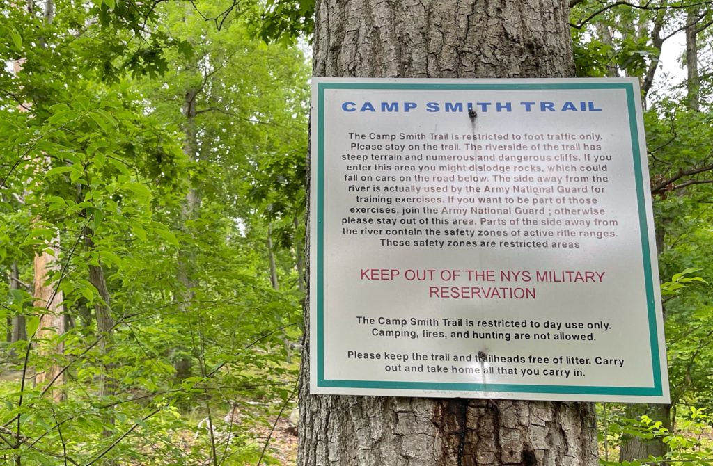 Camp Smith Trail warning sign
