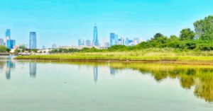 Caven Point in Liberty State Park, Jersey City