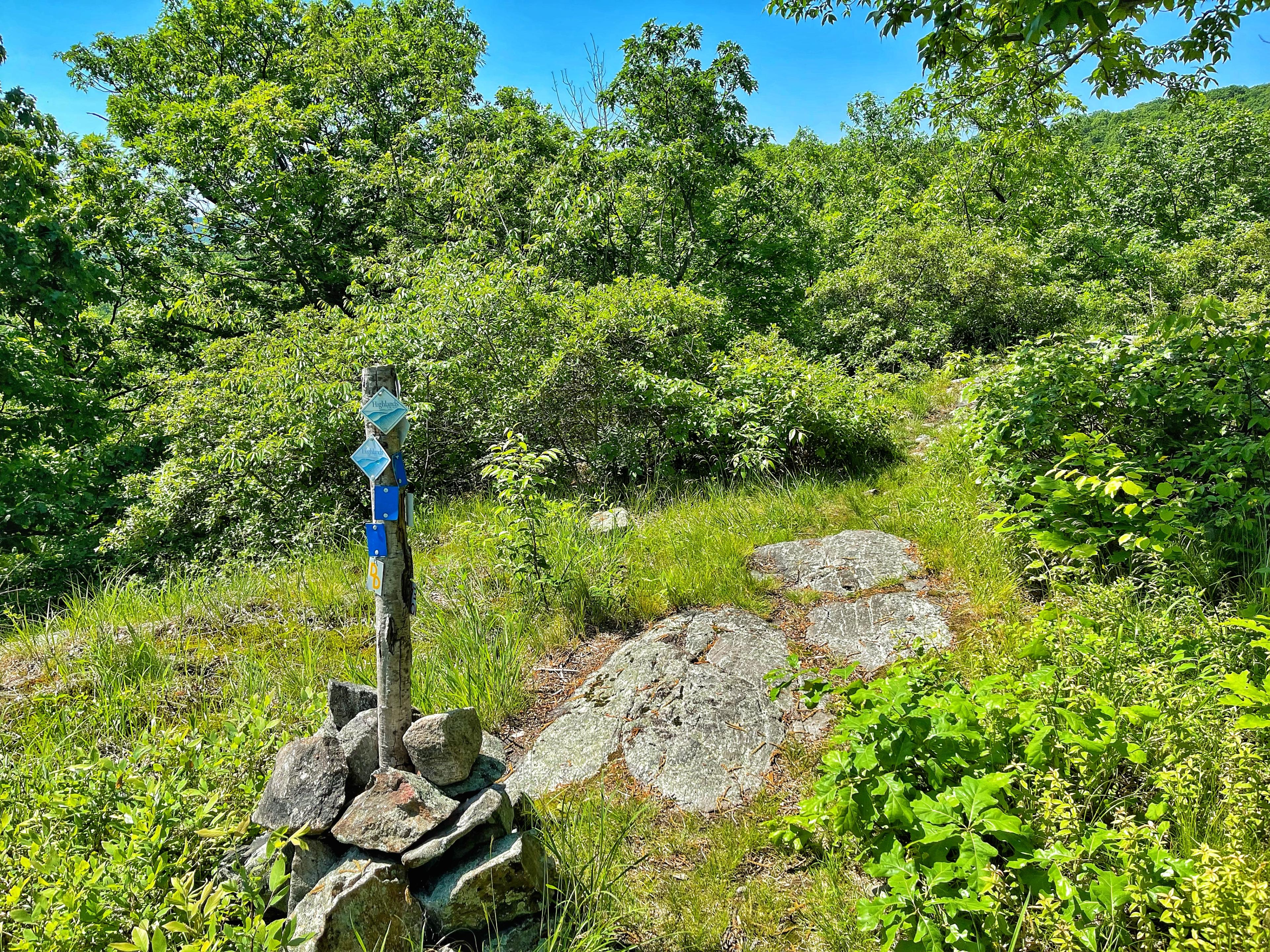 Doris Duke Trail junction with Allis and Highlands Trail