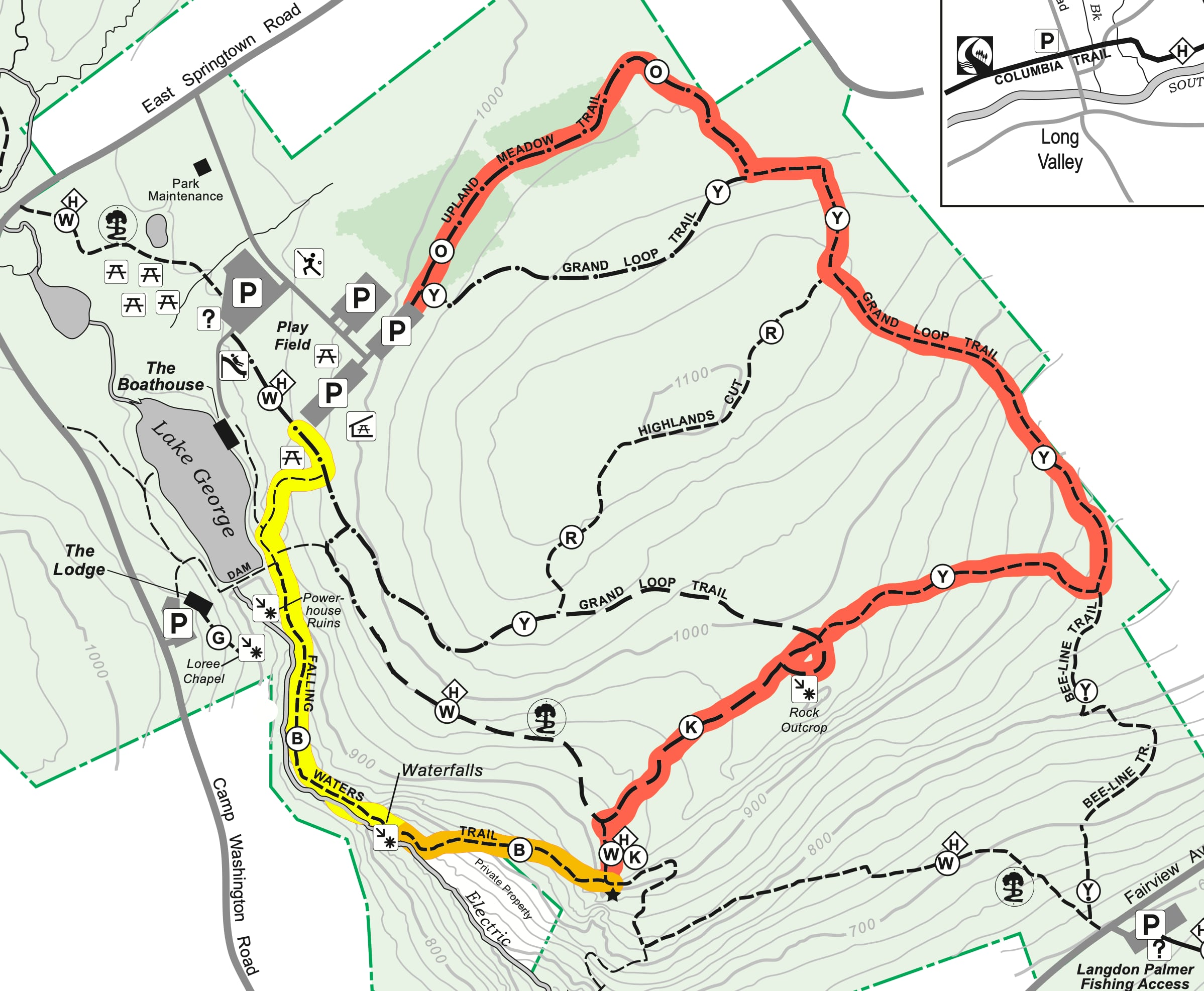 Schooley's Mountain Trail Map