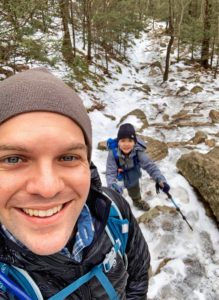 Winter hiking on Mt Tammany hike