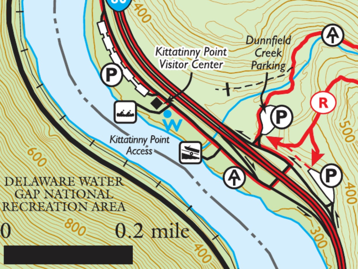 Parking area for Mt. Tammany