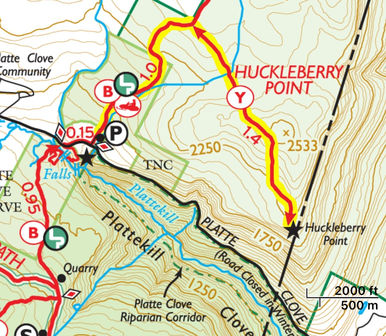 Huckleberry Point Trail Map