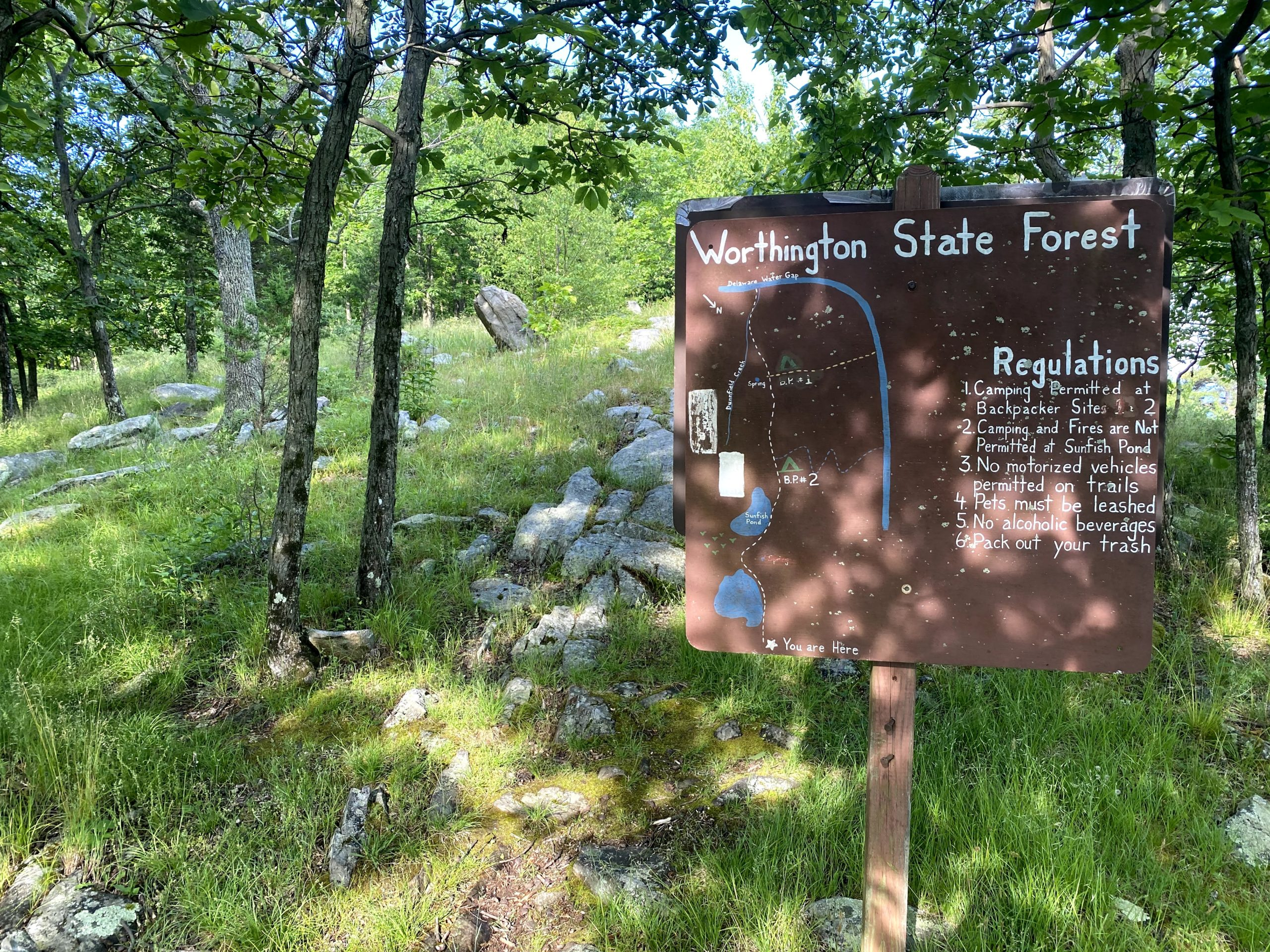Worthington State Forest sign