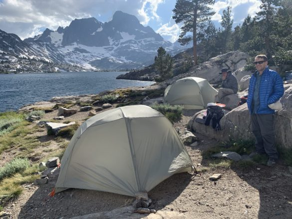 Camp site at Garnet Lake