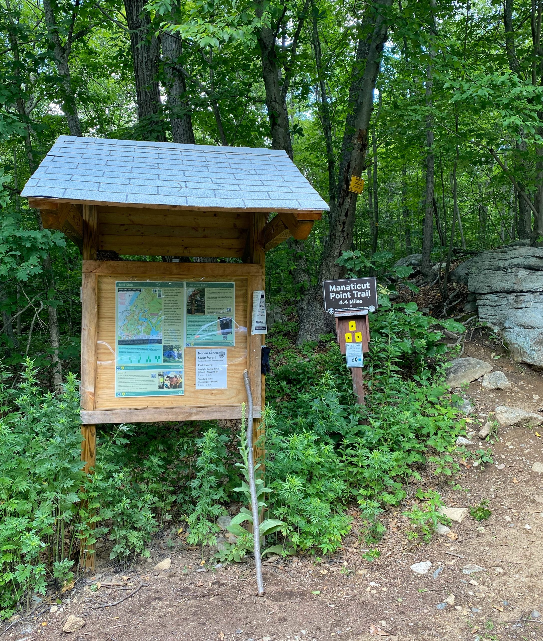 Manaticut Point Trailhead Kiosk